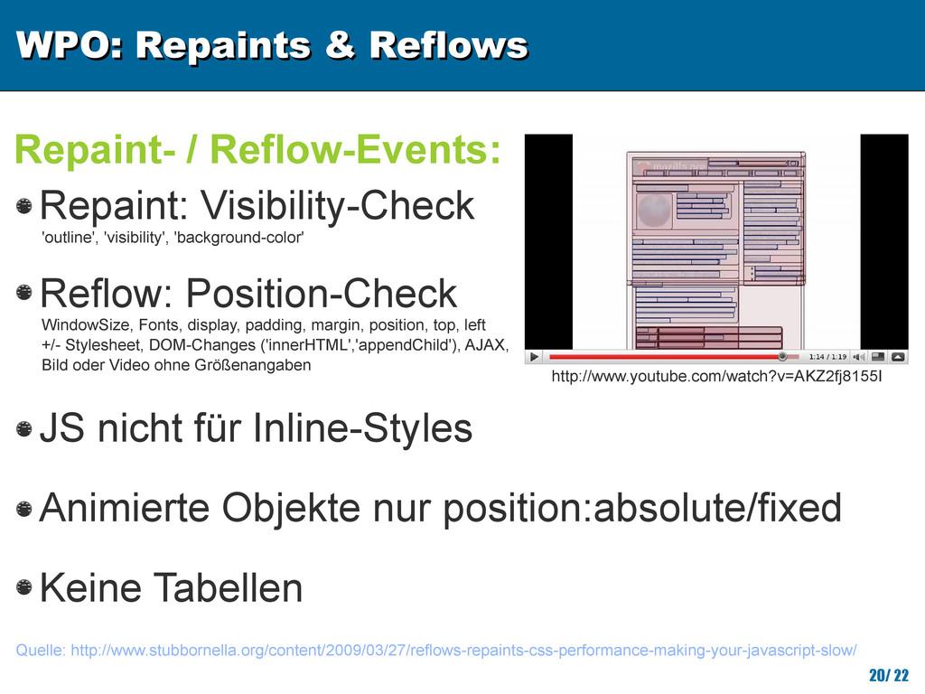 WPO: Repaints & Reflows WPO: Repaints & Reflows...