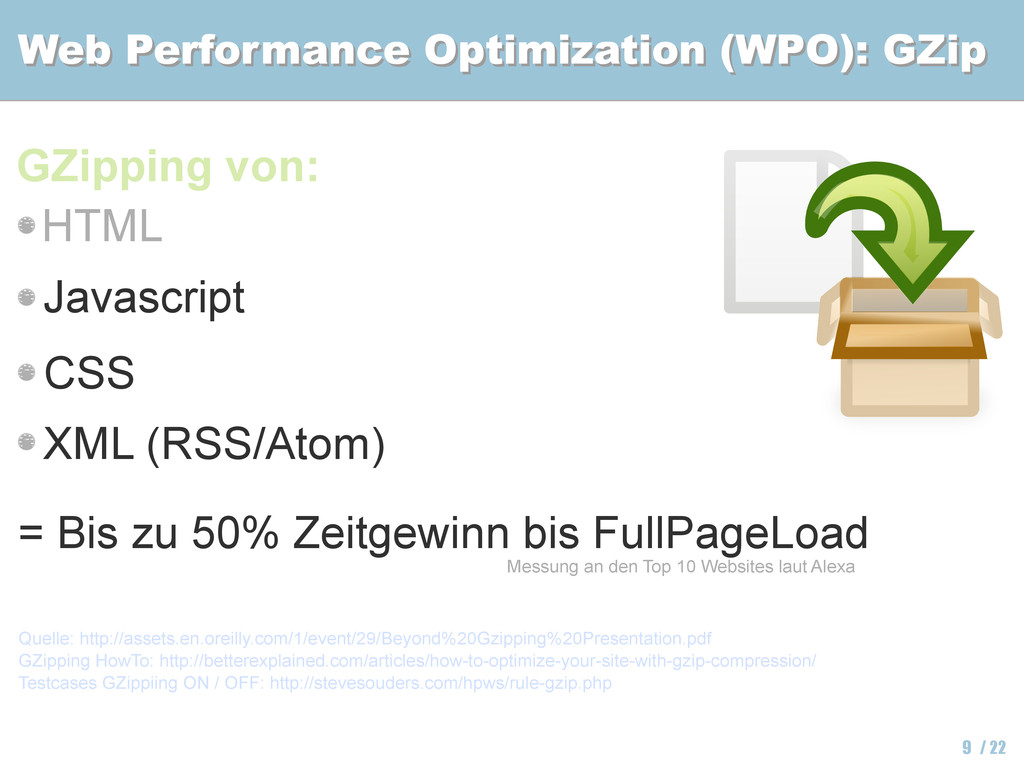 Web Performance Optimization (WPO): GZip Web Pe...