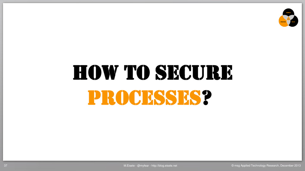 How to secure Processes? M.Eisele - @myfear - h...