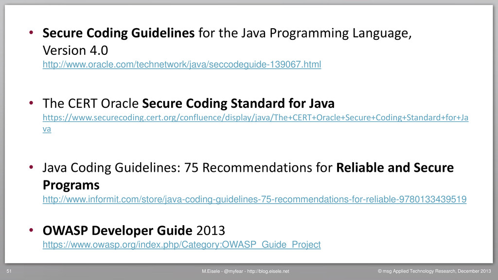 • Secure Coding Guidelines for the Java Program...