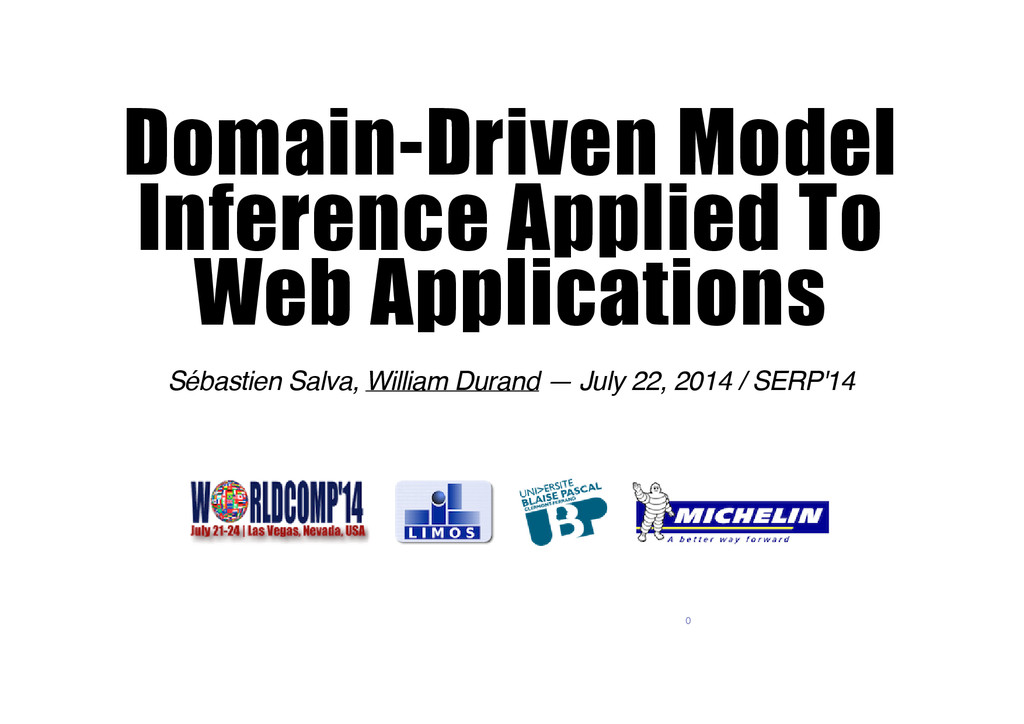 Domain-­Driven Model Inference Applied To Web A...