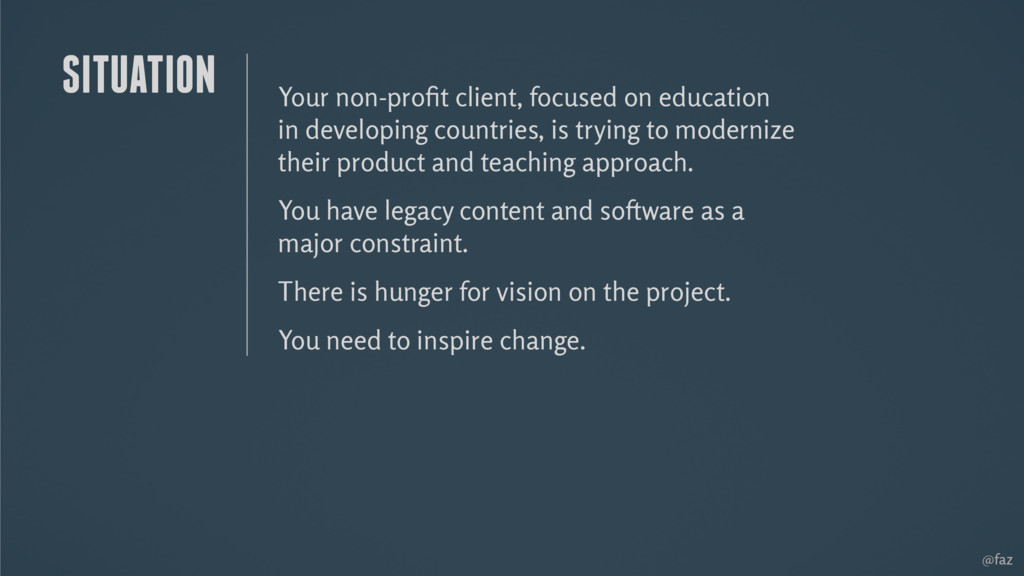 @faz Your non-profit client, focused on educatio...