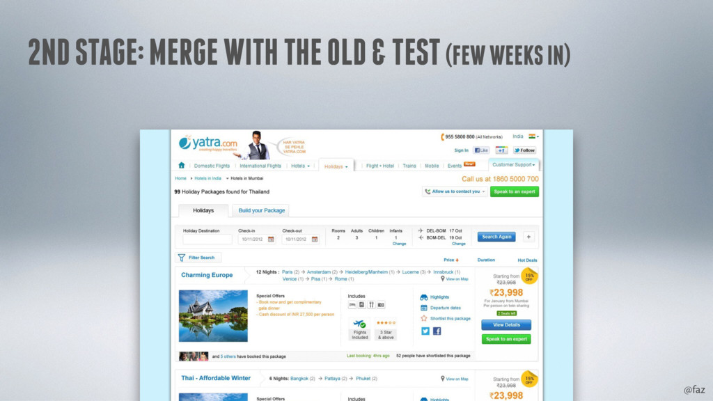 @faz 2ND STAGE: MERGE WITH THE OLD & TEST (FEW ...