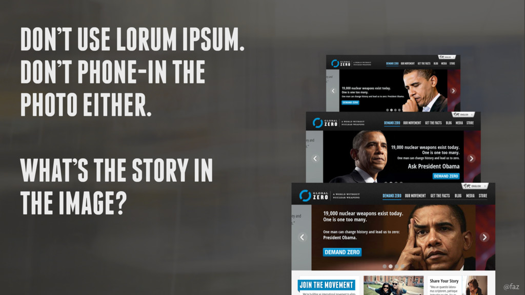 @faz DON'T USE LORUM IPSUM. DON'T PHONE-IN THE ...
