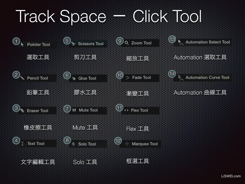 Track Space ʵ Click Tool -J48&JDPN 1 4 3 2 5 6...