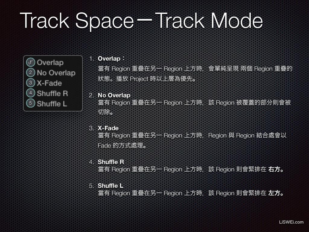 Track SpaceʵTrack Mode -J48&JDPN 1 2 3 4 5 1. ...