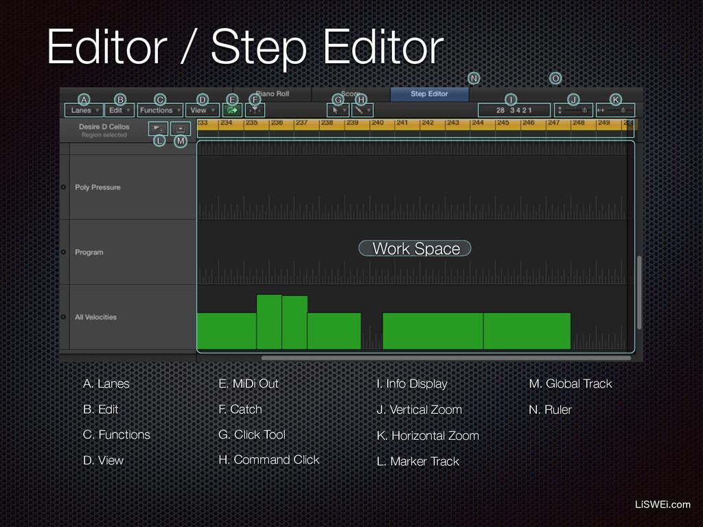 Editor / Step Editor -J48&JDPN A. Lanes B. Edi...