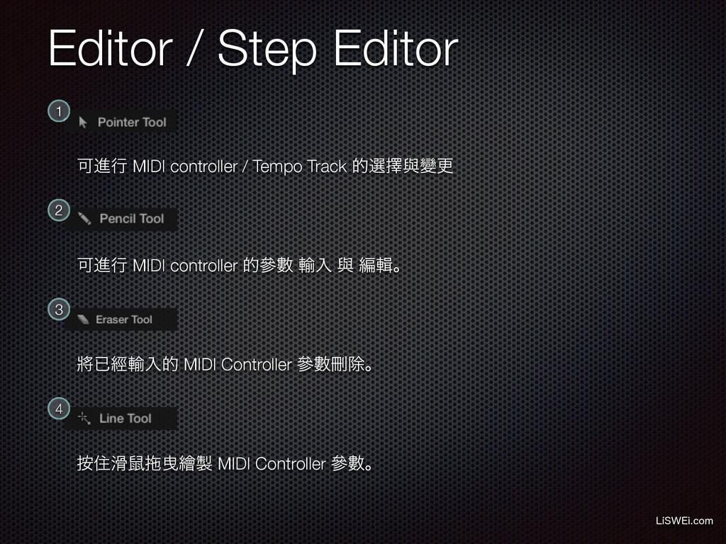 Editor / Step Editor -J48&JDPN 1 Մਐߦ MIDI cont...