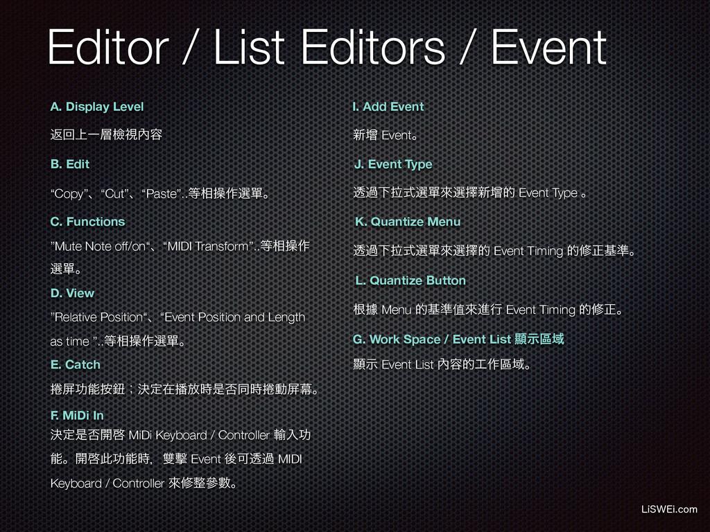 Editor / List Editors / Event -J48&JDPN A. Dis...