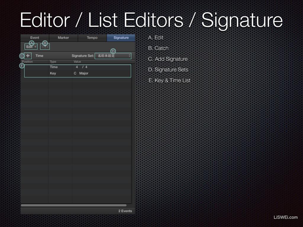 Editor / List Editors / Signature -J48&JDPN A....