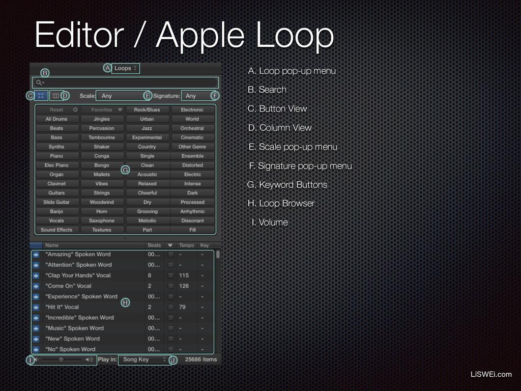 Editor / Apple Loop -J48&JDPN A. Loop pop-up m...