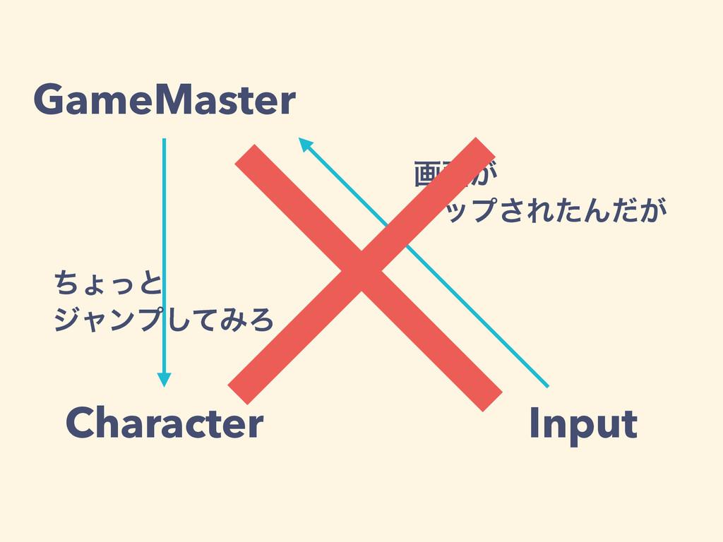 GameMaster Input Character ը໘͕ λοϓ͞ΕͨΜ͕ͩ ͪΐͬͱ δ...