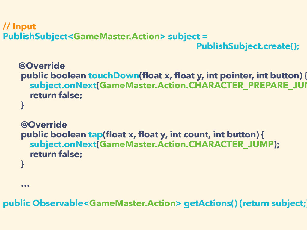 // Input PublishSubject<GameMaster.Action> subj...