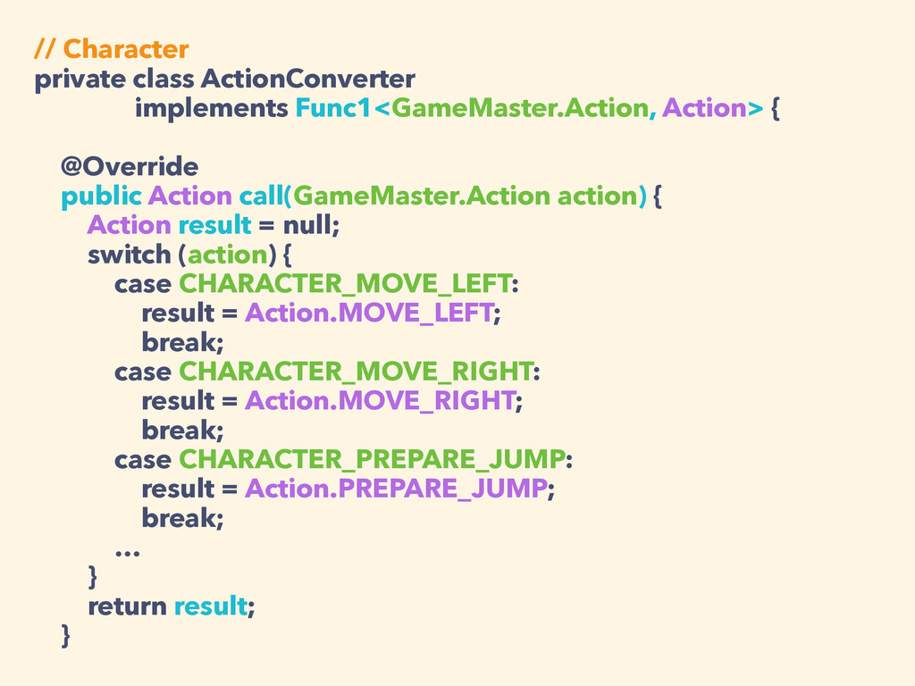 // Character private class ActionConverter impl...