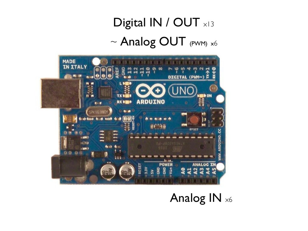 Digital IN / OUT x13 Analog IN x6 ~ Analog OUT ...