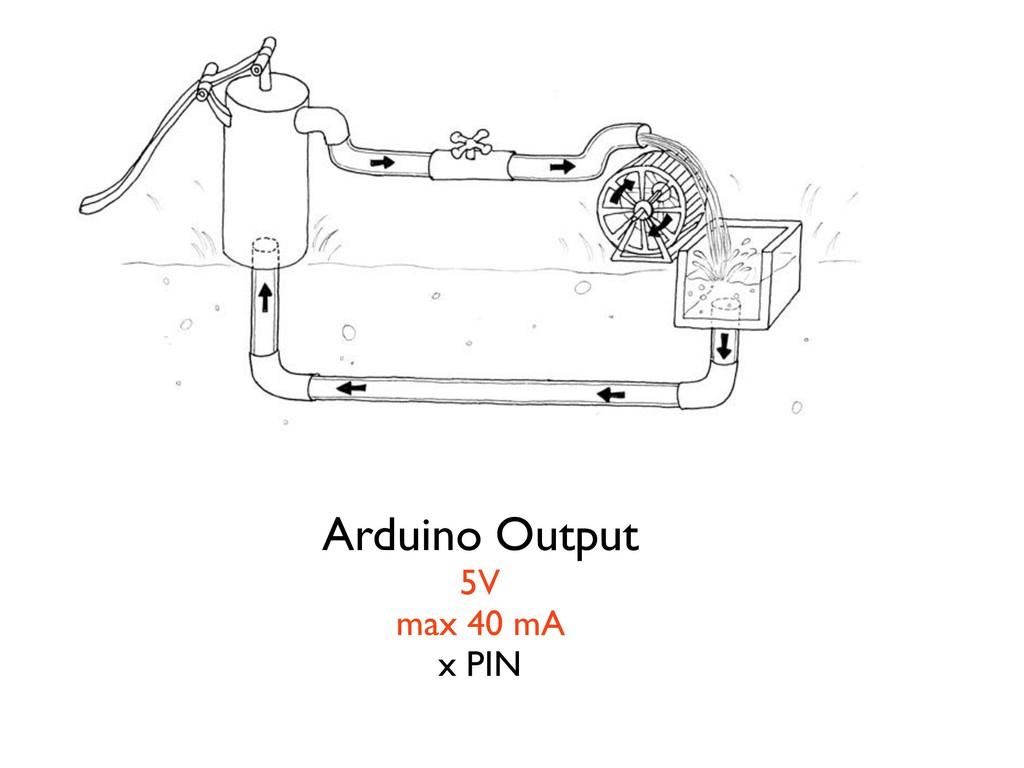 Arduino Output 5V max 40 mA x PIN