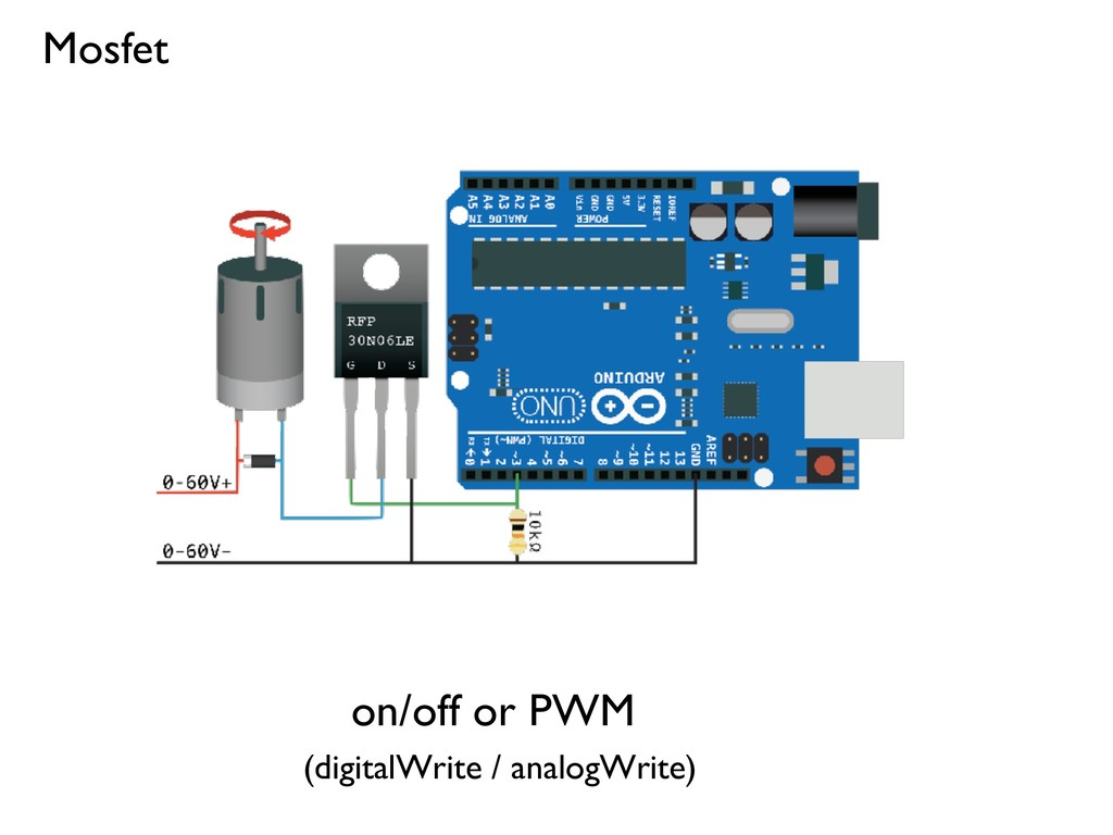 Mosfet on/off or PWM (digitalWrite / analogWrit...