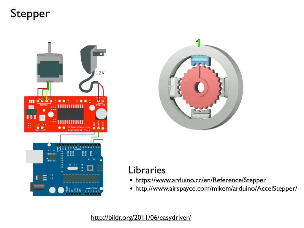 Stepper http://bildr.org/2011/06/easydriver/ Li...
