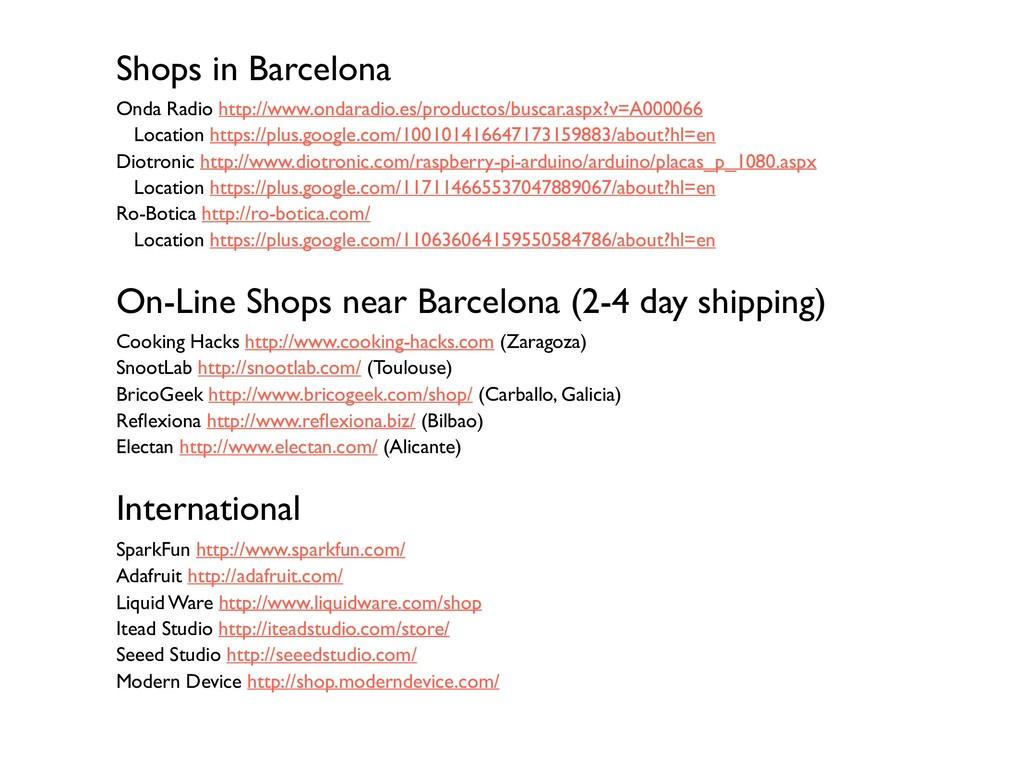 Shops in Barcelona Onda Radio http://www.ondara...