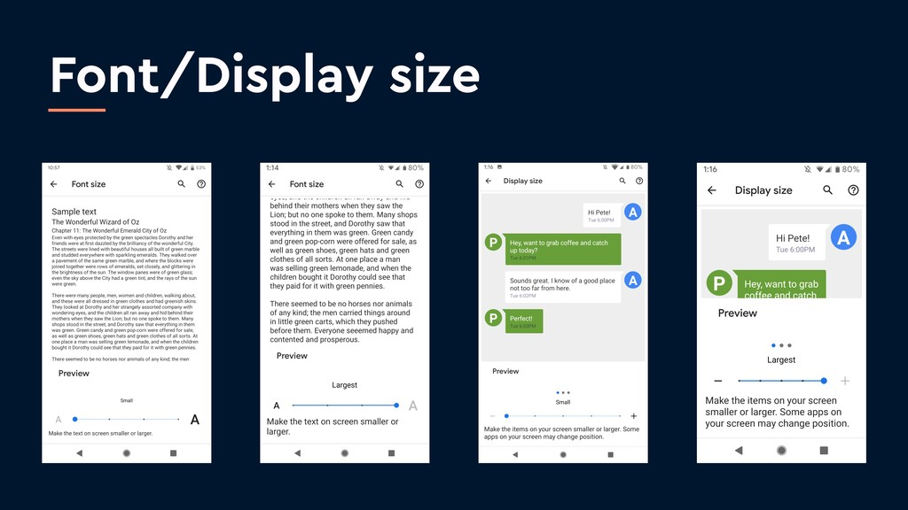 Font/Display size