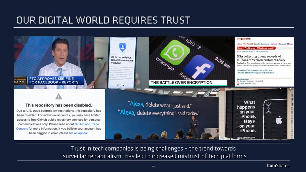 - 4 - OUR DIGITAL WORLD REQUIRES TRUST Trust in...