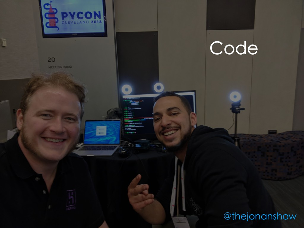 Code @thejonanshow