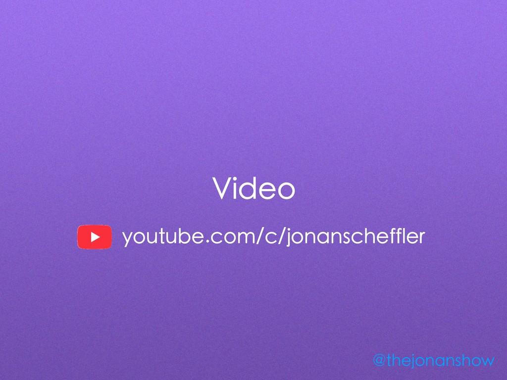 Video @thejonanshow youtube.com/c/jonanscheffler