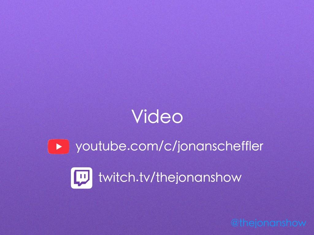 Video @thejonanshow youtube.com/c/jonanscheffle...