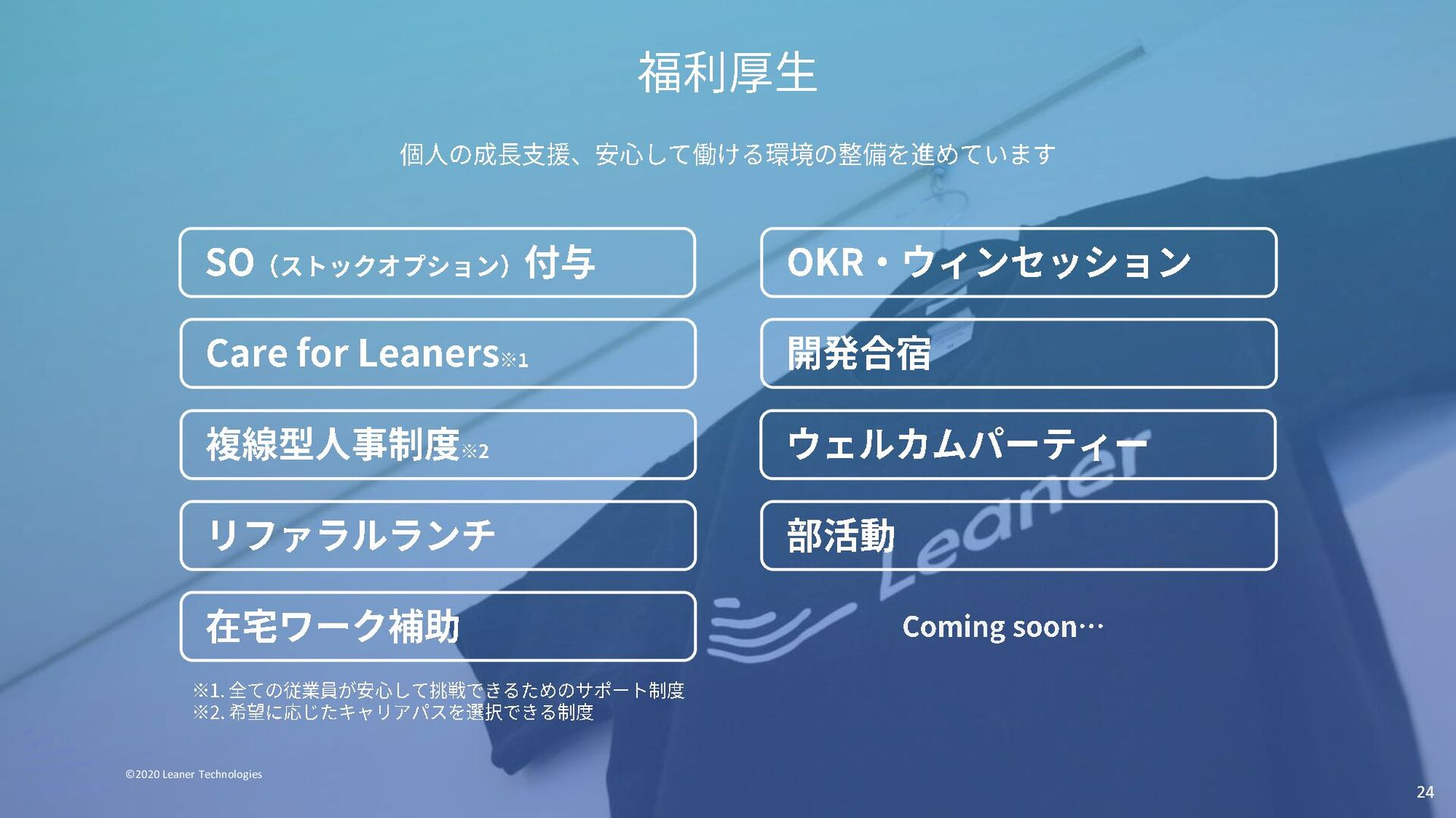 24 オフィス ©2020 Leaner Technologies 祐天寺の地下オフィスで開発...