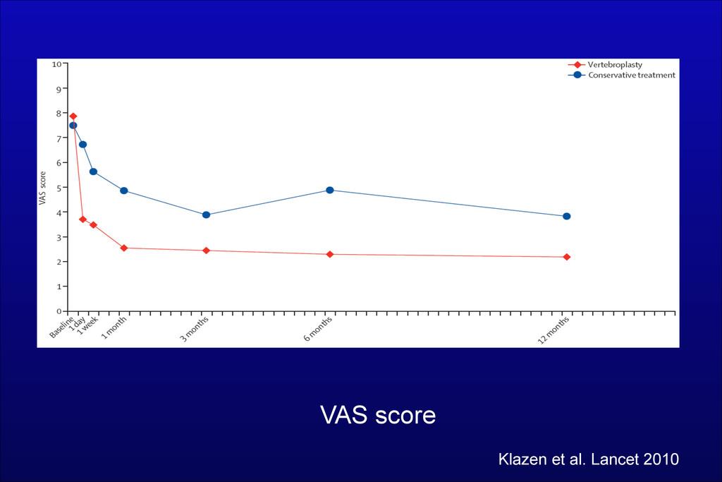 VAS score Klazen et al. Lancet 2010