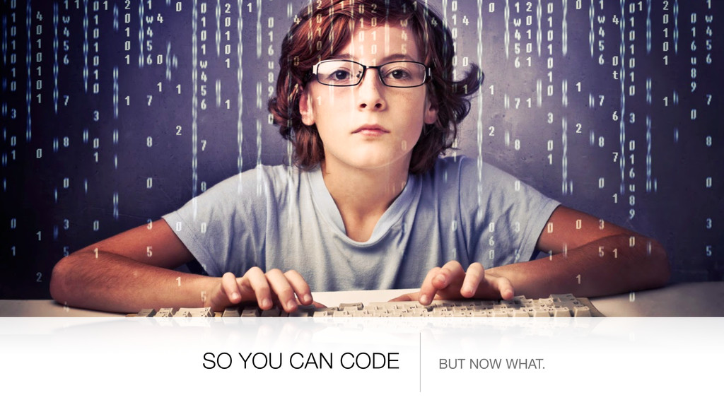 SO YOU CAN CODE BUT NOW WHAT.