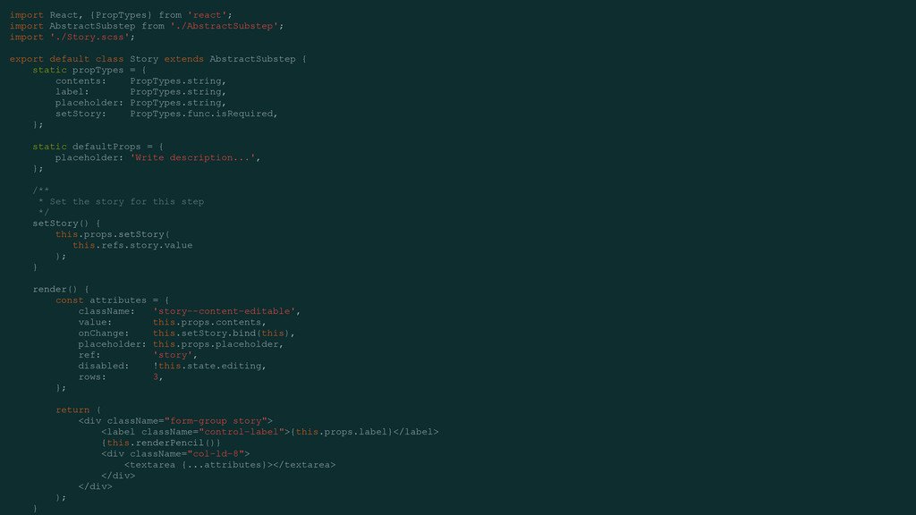import React, {PropTypes} from 'react'; import ...