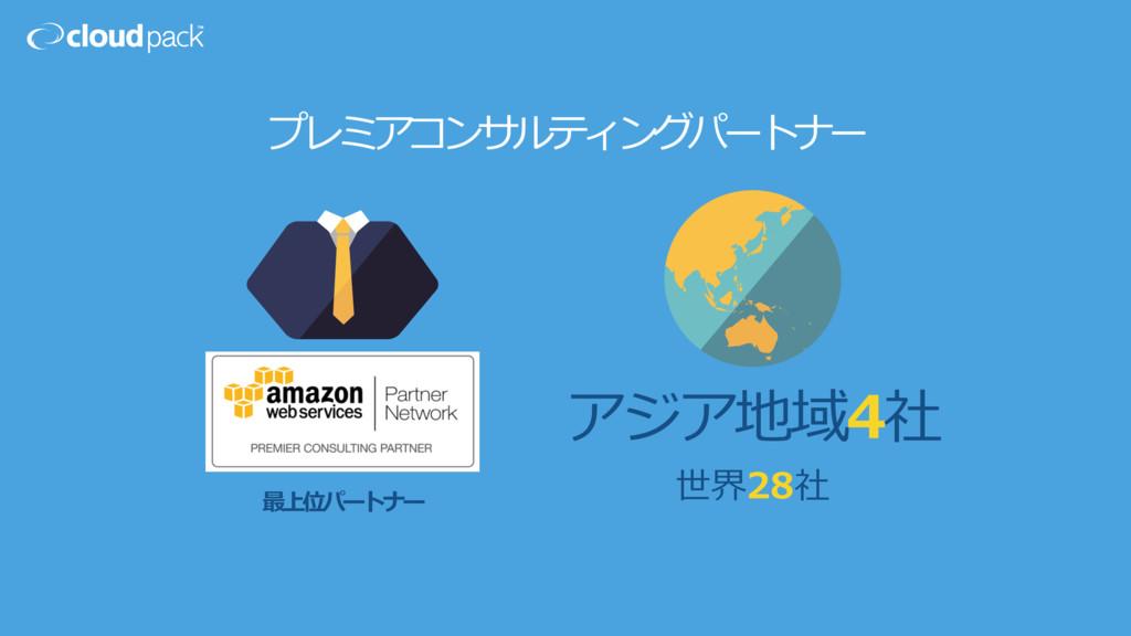 アジア地域4社 世界28社 最上位パートナー プレミアコンサルティングパートナー