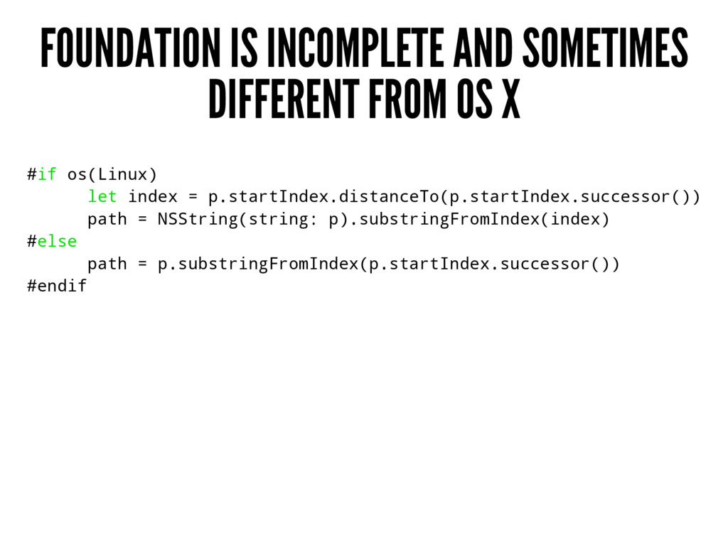 FOUNDATION IS INCOMPLETE AND SOMETIMES DIFFEREN...