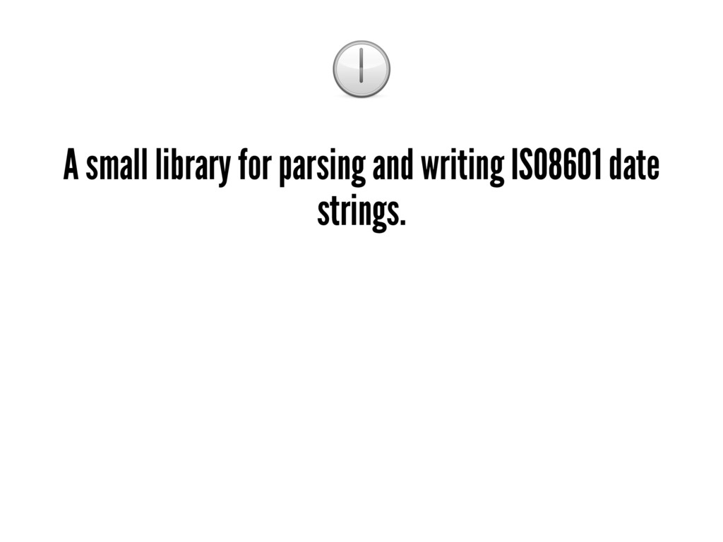 ! A small library for parsing and writing ISO86...