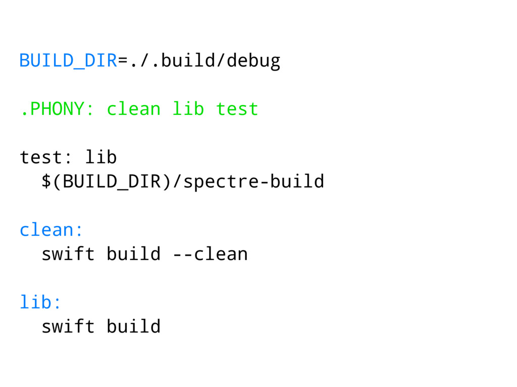 BUILD_DIR=./.build/debug .PHONY: clean lib test...