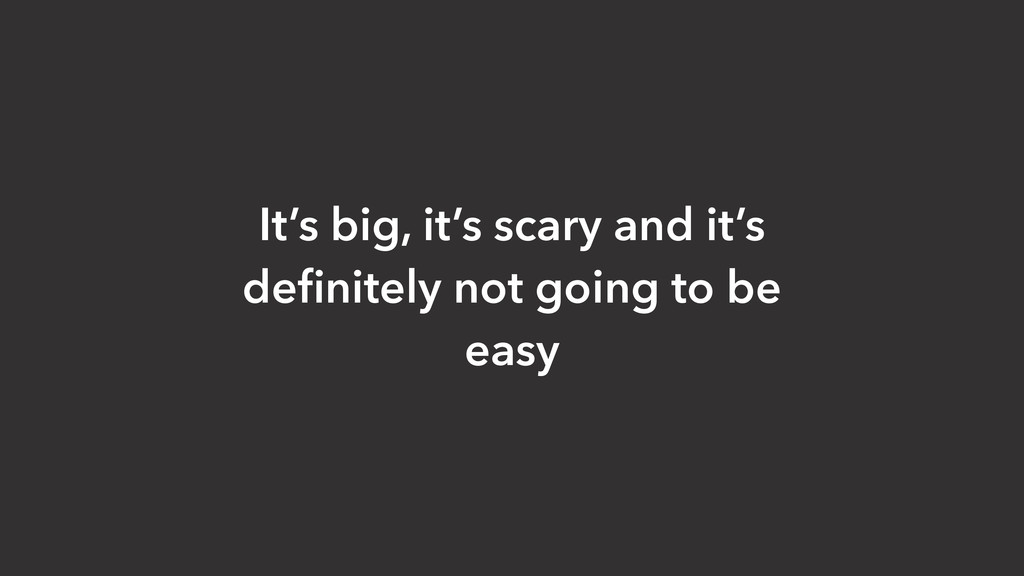It's big, it's scary and it's definitely not goi...