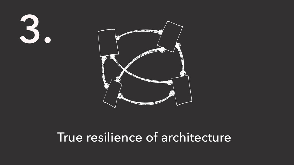3. True resilience of architecture