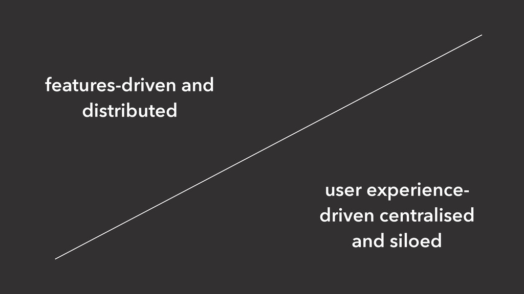 features-driven and distributed user experience...