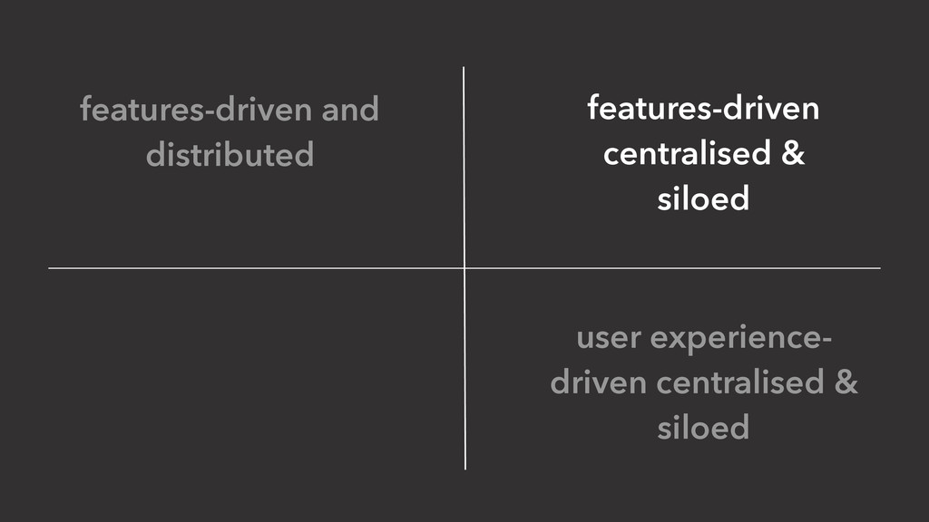 user experience- driven centralised & siloed fe...