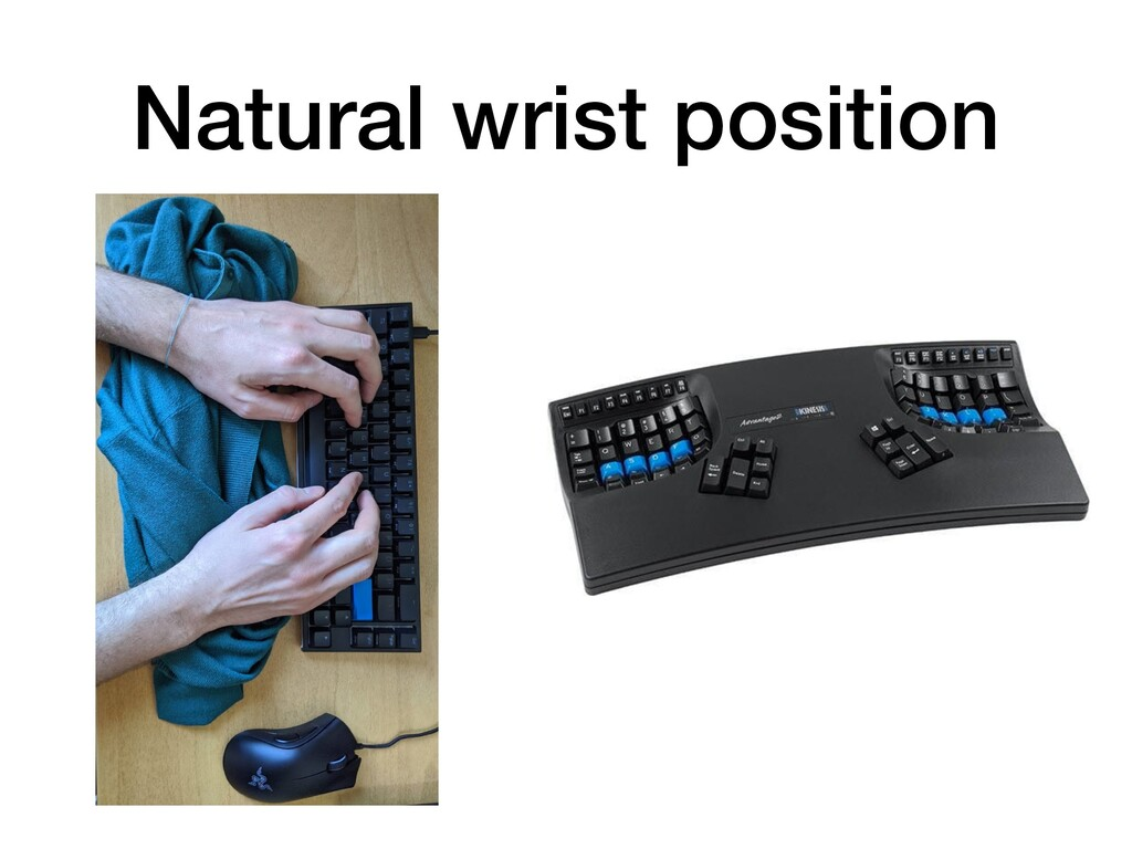 Natural wrist position