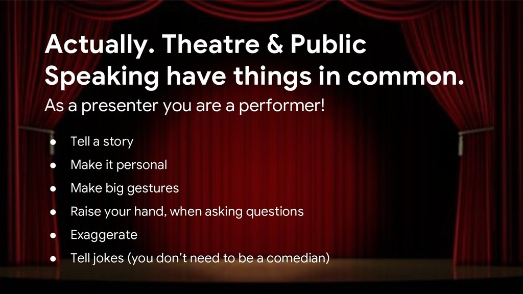 Actually. Theatre & Public Speaking have things...
