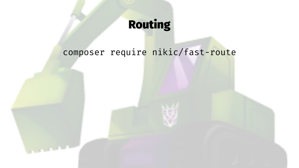 Routing composer require nikic/fast-route