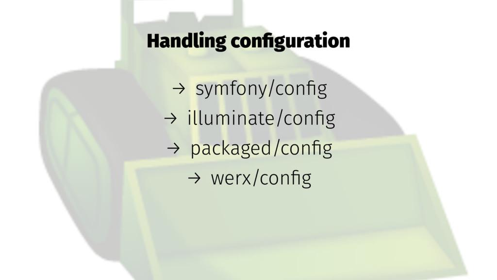 Handling configuration → symfony/config → illumin...