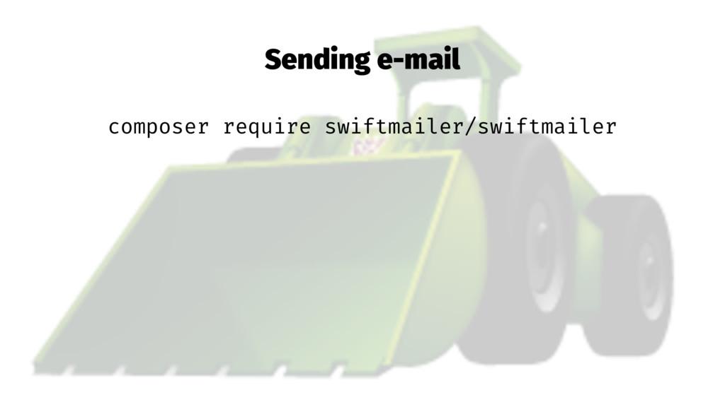 Sending e-mail composer require swiftmailer/swi...