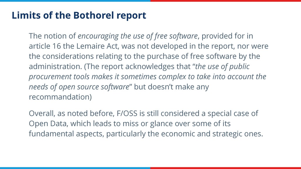 Limits of the Bothorel report The notion of enc...