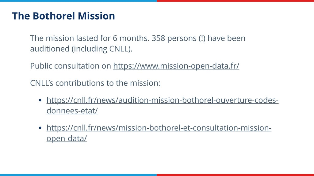 The Bothorel Mission The mission lasted for 6 m...