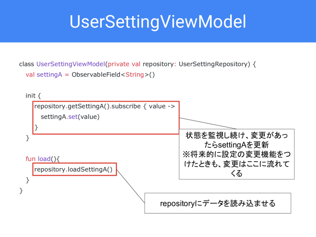 UserSettingViewModel class UserSettingViewModel...