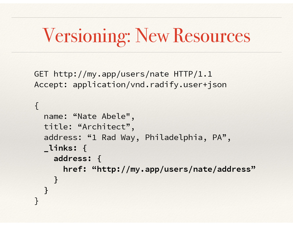 Versioning: New Resources GET http://my.app/use...