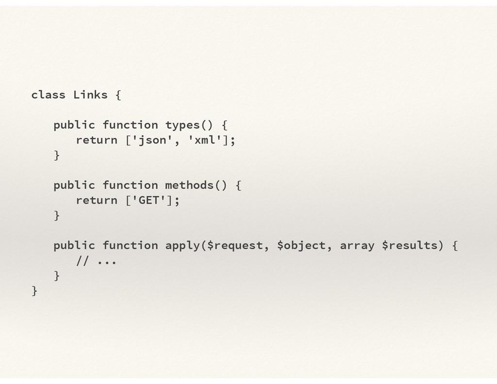 class Links { ! public function types() { retur...